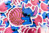 Stitch pink concha sticker