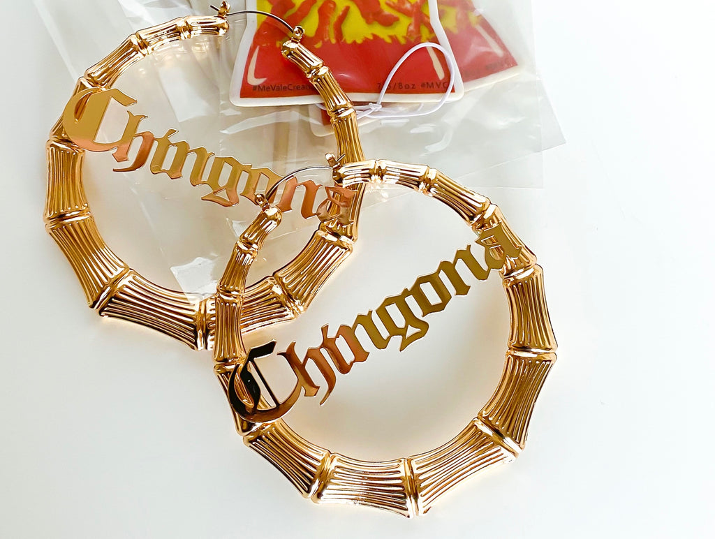 """CHINGONA"" Hoop Earrings"