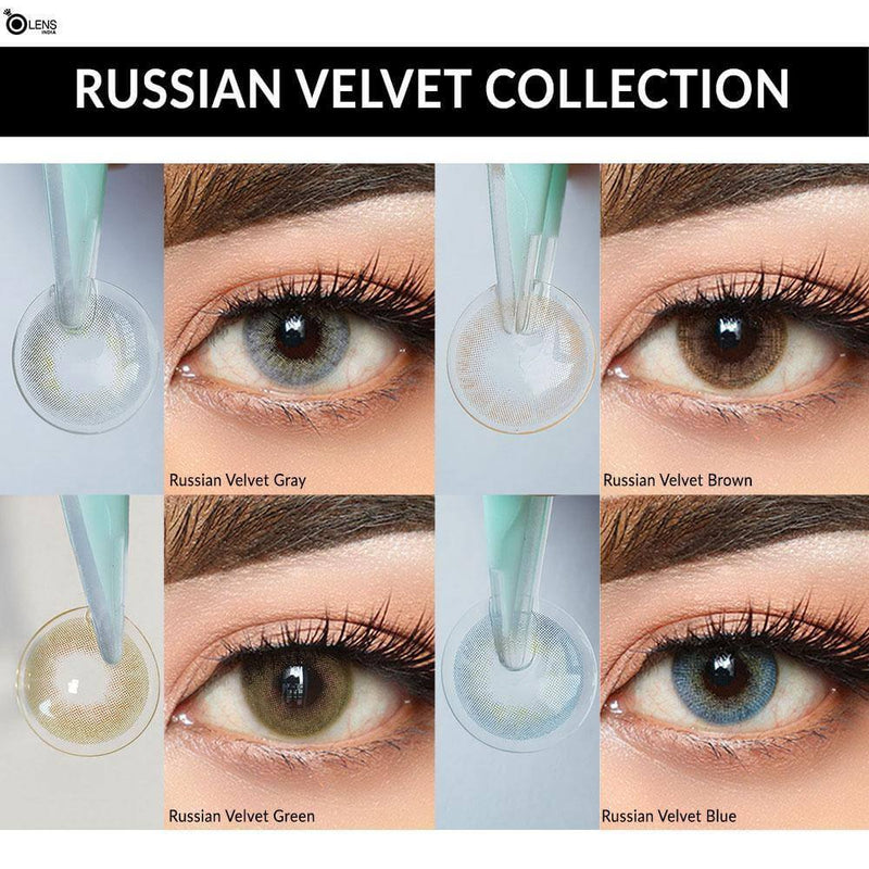 Russian Velvet Gray ( 1 Month ) - o-lens.co.in