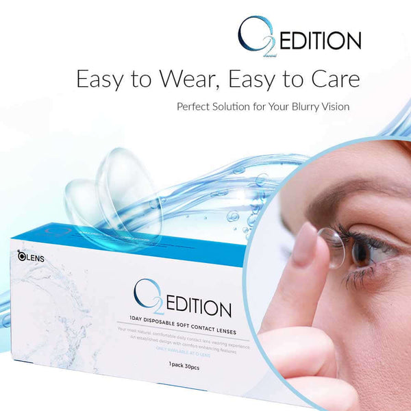 O2 Edition ( 1 Day ) 40p Clear Contact Lens