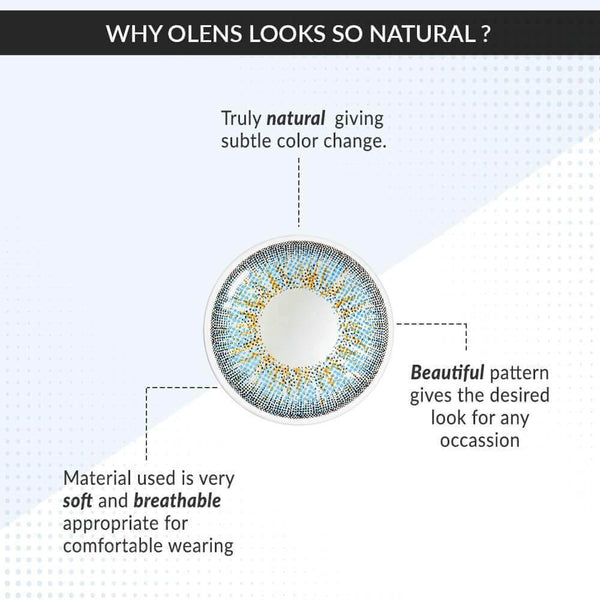 Buy O-LENS Color Lenses | Jenith3 Blue color lenses ( 6 Month ) | Color Lens