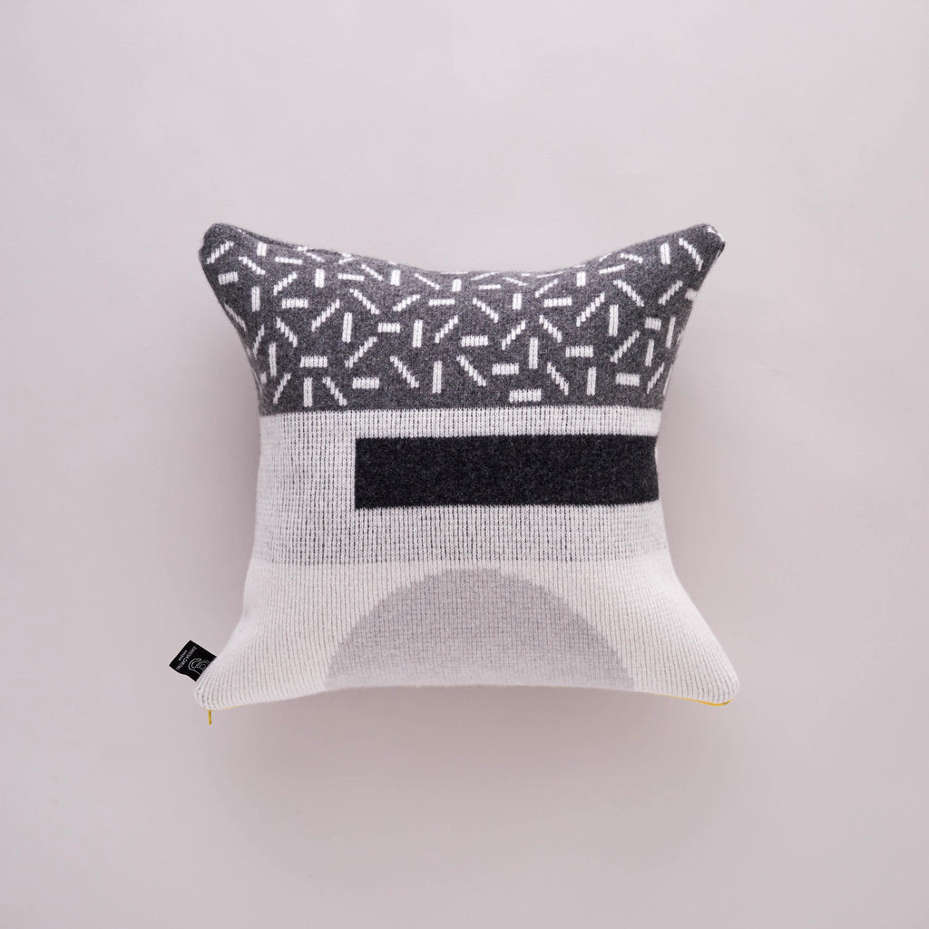 FORMA CUSHION IN GREYSCALE