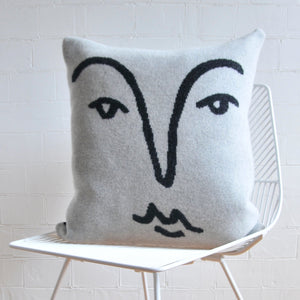 GIANNINA CAPITANI X ALICE DANSEY-WRIGHT FACE CUSHION IN GREY