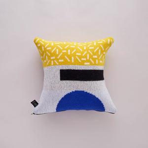 FORMA CUSHION IN YELLOW AND BLUE