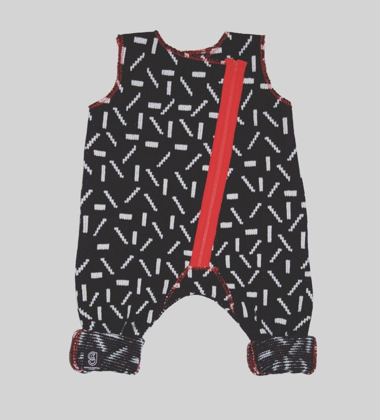 DASH BABY ROMPER IN BLACK AND WHITE