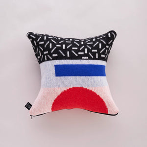 FORMA CUSHION IN RED AND BLACK