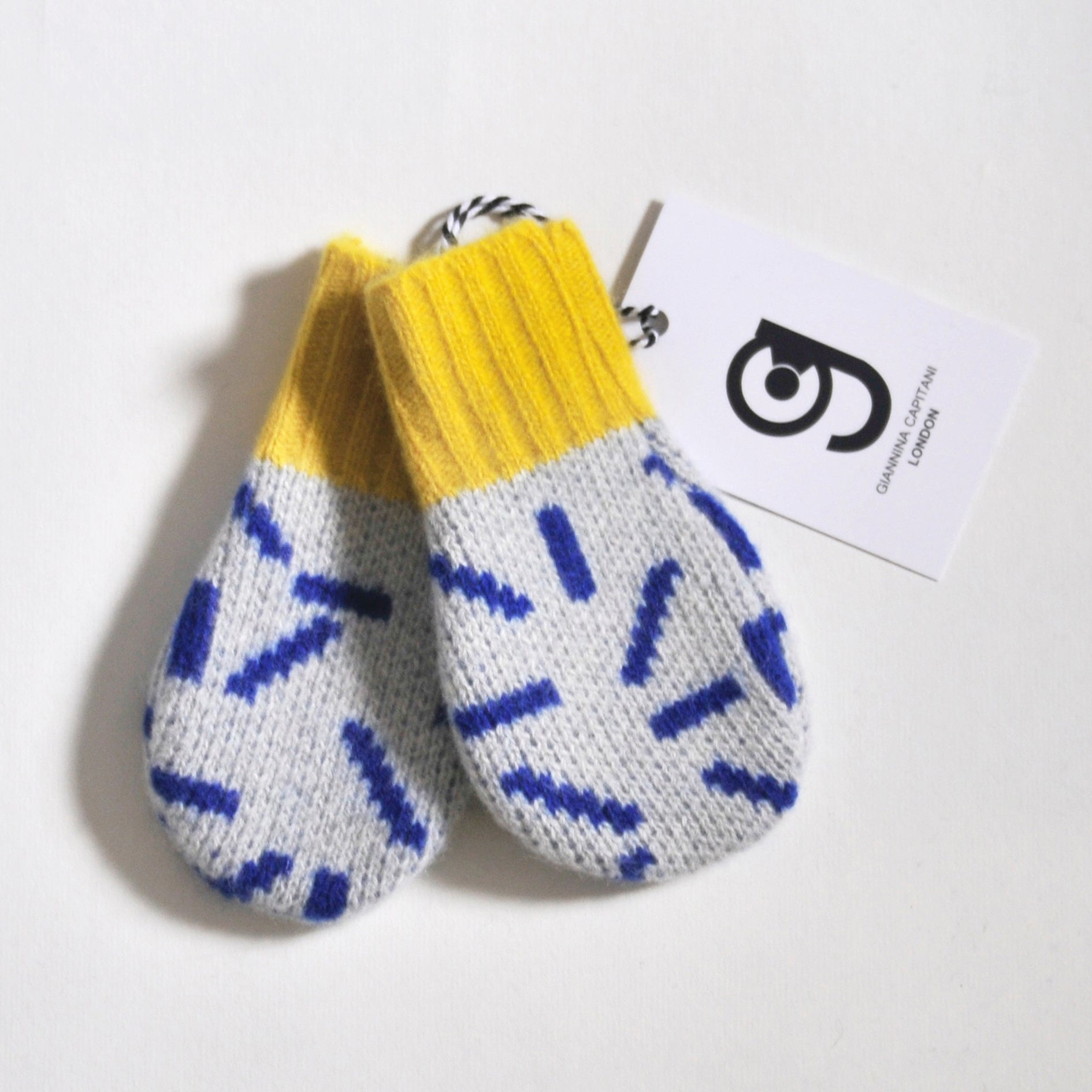 DASH BABY MITTEN IN GREY AND BLUE