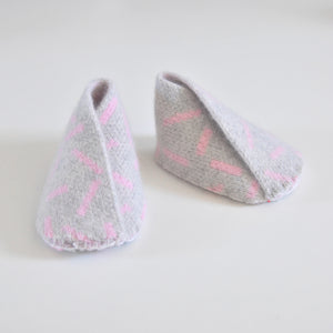 DASH BABY BOOTIE IN GREY AND PINK