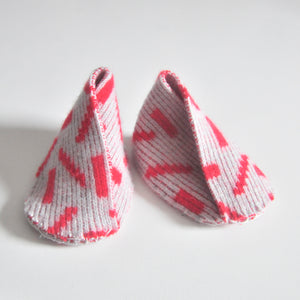 DASH BABY BOOTIE IN GREY AND RED