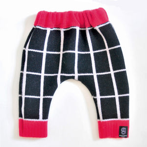 GRID BABY HAREM TROUSER IN BLACK AND WHITE