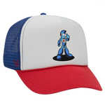 Nerd City Trucker Hat - Red, White & Blue - Featuring NC Robot