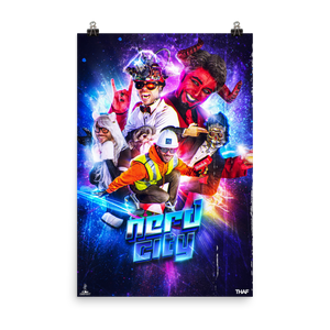 Nerd City Retro Sci-Fi Poster (Glossy Finish)