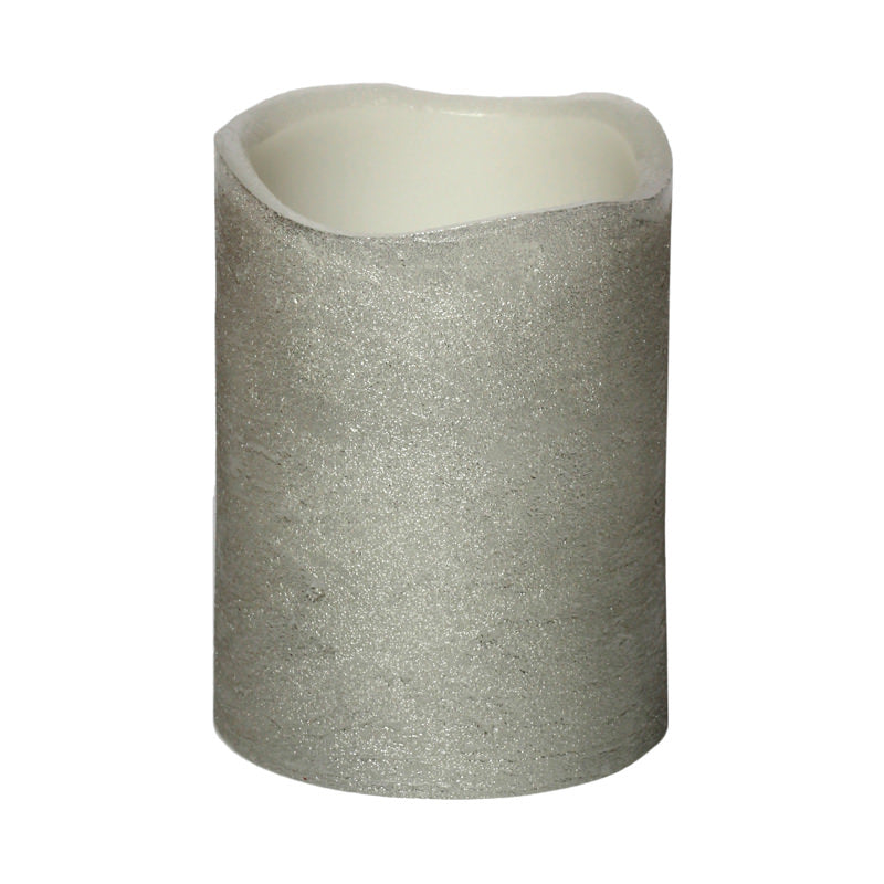Flameless Candle Small Silver
