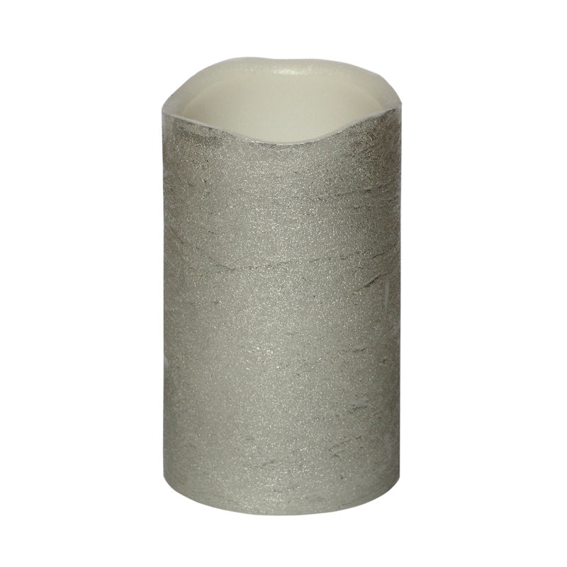 Flameless Candle Medium Silver