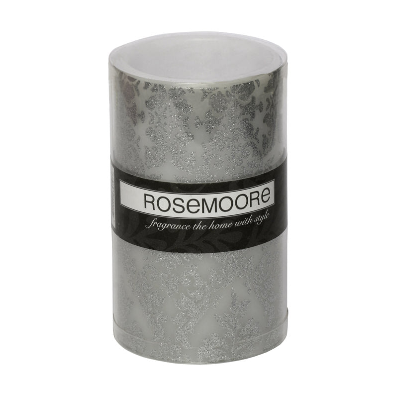 Flameless Candle Medium Silver Decal