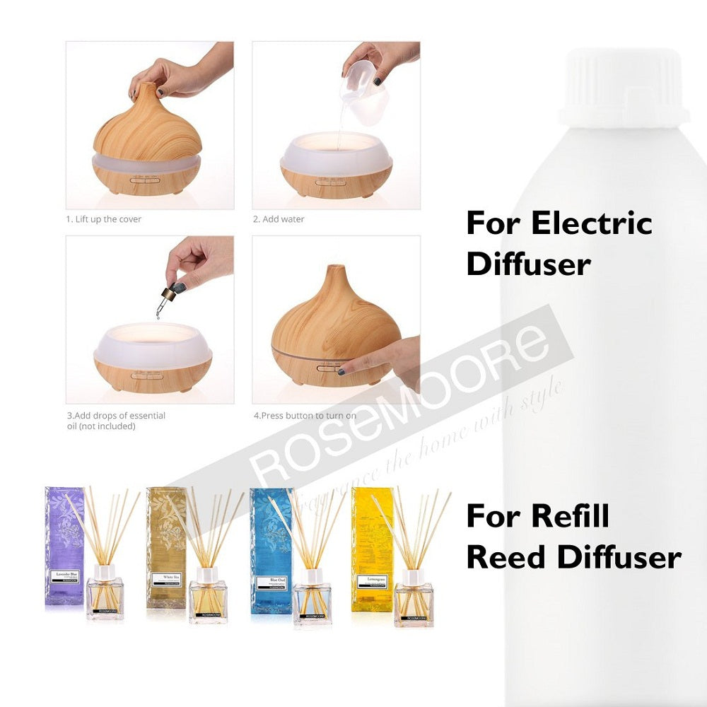 Scented Reed Diffuser Refill Oil 1 Litre Eucalyptus and Kaffir Lime