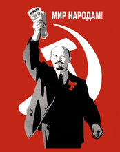 Load image into Gallery viewer, Lenin T-shirt: Peace to All Nations