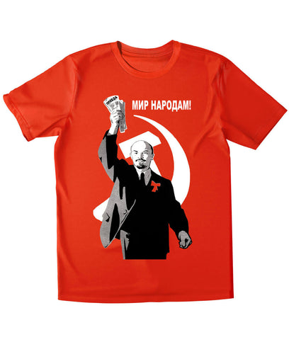 Lenin T-shirt: Peace to All Nations