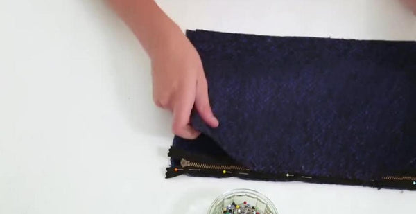 tuto couture video pochette zippee