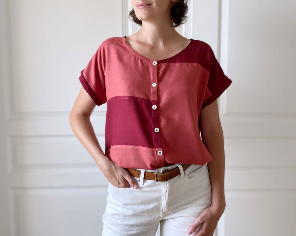 patron gratuit recycler chutes tissu couture top upcycling charlotte auzou
