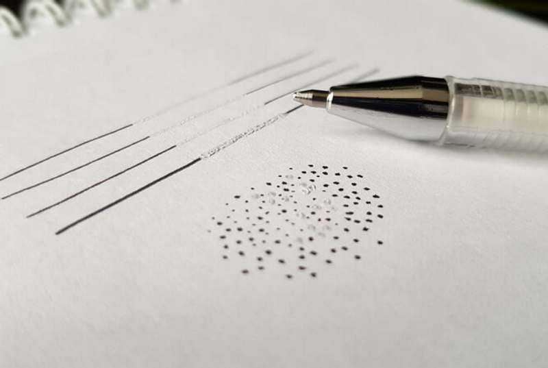 How Ink Spreads on Paper