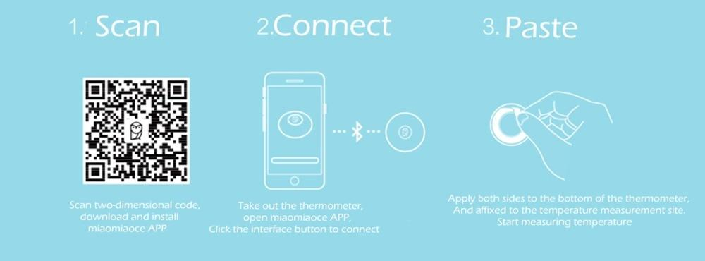 Miaomiaoce Baby Wearable Thermometer Setup on App