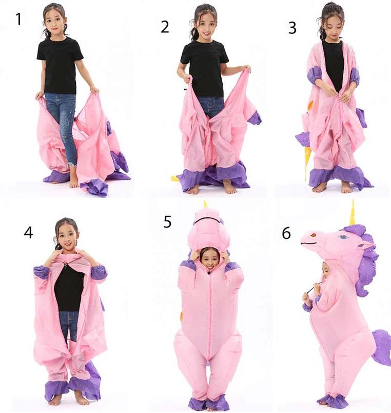 How to Wear Unicorn Blow up Costume
