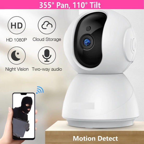 Baby Monitor 1080P Night Vision 355° Covered WiFi Camera with SD Card