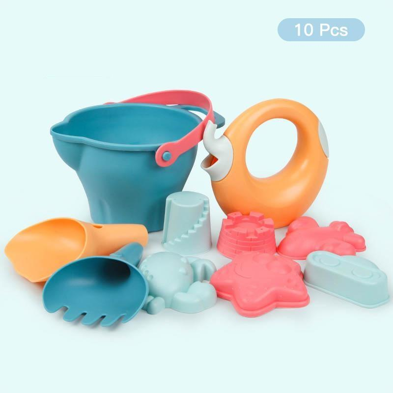 5-14PCS Beach Toys for Kids Sand Toys Set with Bucket Animal Mold - ChildAngle