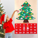 Load image into Gallery viewer, 25PCS Fabric Advent Calendar Felt Christmas Tree Ornaments in Pockets