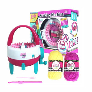 Braiding Machine Hand Knitting Loom Kit Children Educational Toy (22 Needles)