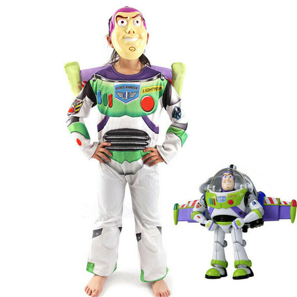 Kids' Toy Story 4 Buzz Lightyear Costume with Mask/Wing - ChildAngle