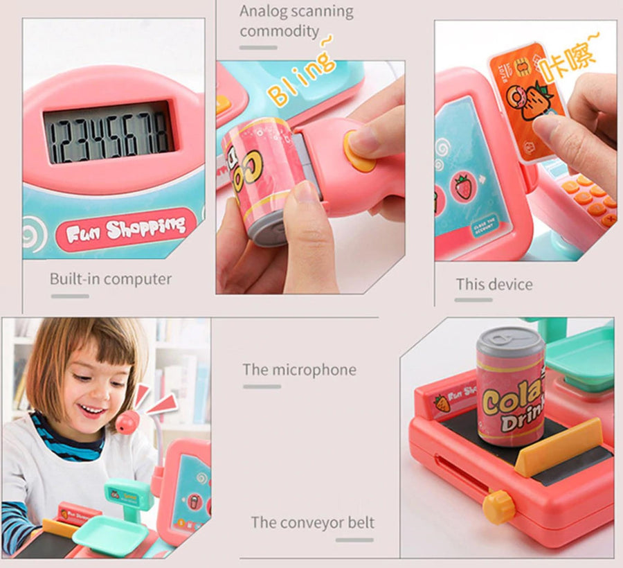 Pink Cash Register Toy for Girls