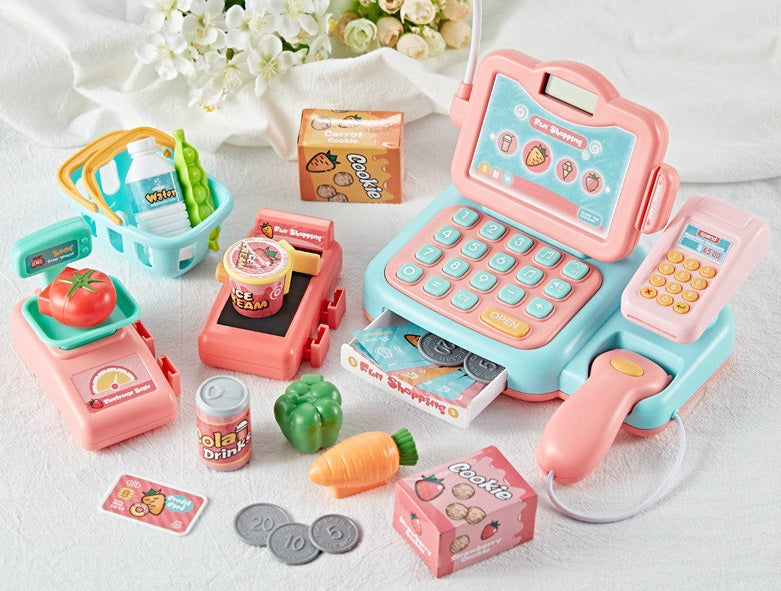 Cash Register Toys Supermarket Pretend Play