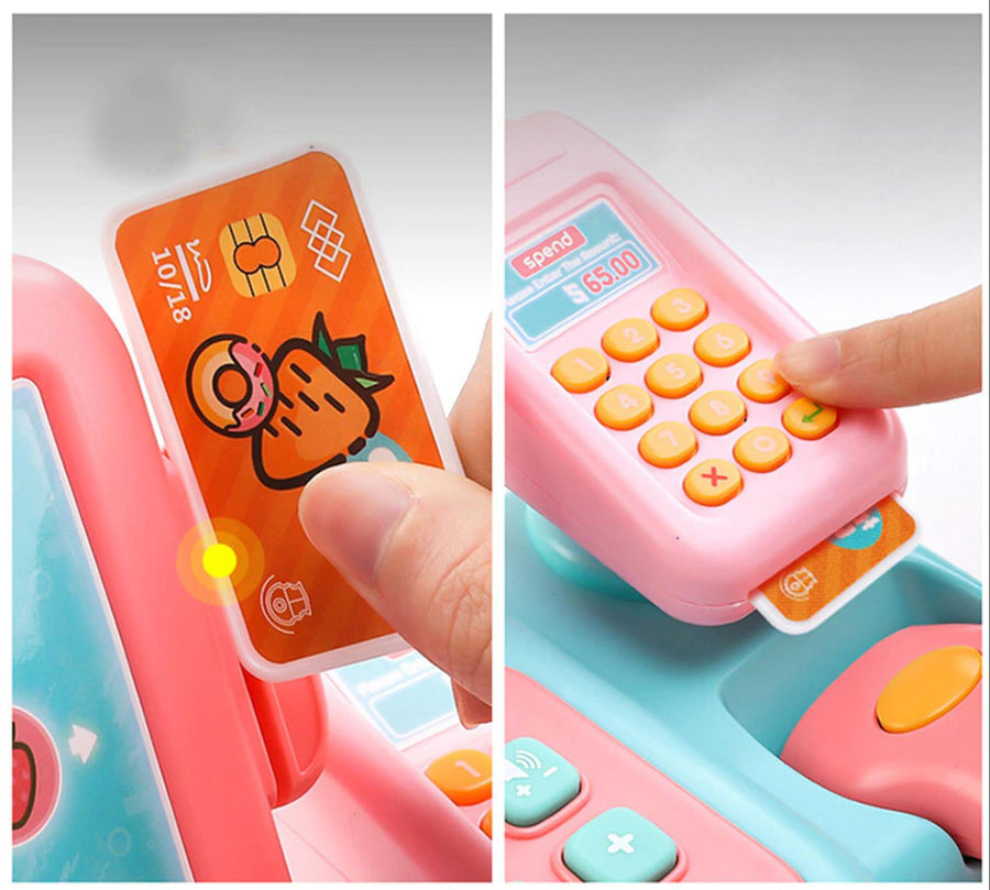 Birthday Gifts for Girls Cash Register Toy with Scanner