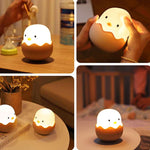 Load image into Gallery viewer, LED Night Light Chick Egg Shape Tumbler Rechargeable Baby Nursery Bedroom Lamp