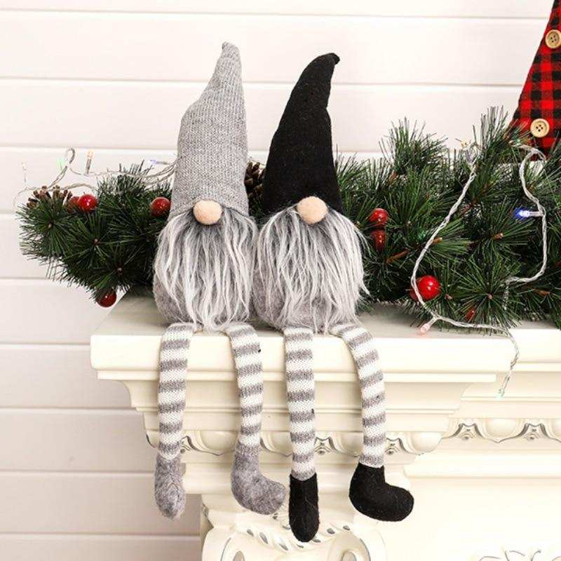 Christmas Gnome Doll Knitted Sitting Mantel Decoration