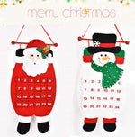 Load image into Gallery viewer, 1PC Fabric Felt Advent Calendar Santa Elk Snowman Christmas