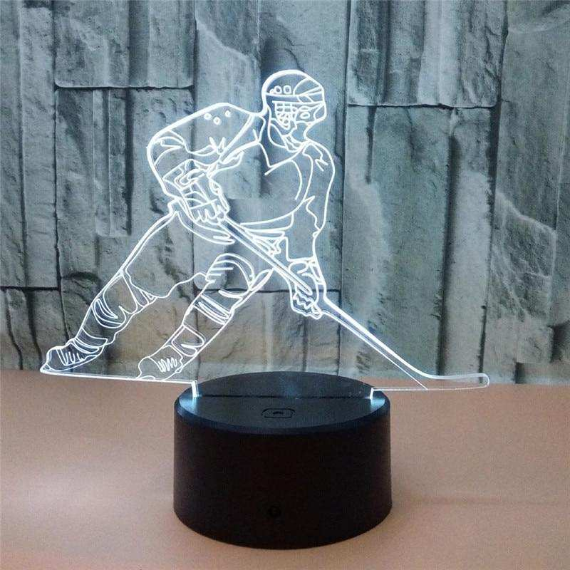 Ice Hockey Players 3D Illusion Lamp