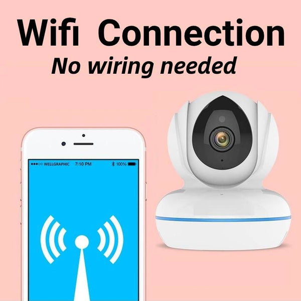 4MP Wifi Baby Monitor IP Camera 2.4G/5Ghz IR Night Vision Motion Detection