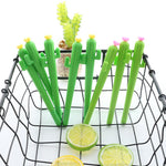 Load image into Gallery viewer, 2PCS Cute Green Cactus Flower Gel Pen - ChildAngle