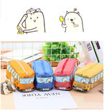 Load image into Gallery viewer, Large Capacity School Bus Pencil Case Canvas Pencil Bag - ChildAngle
