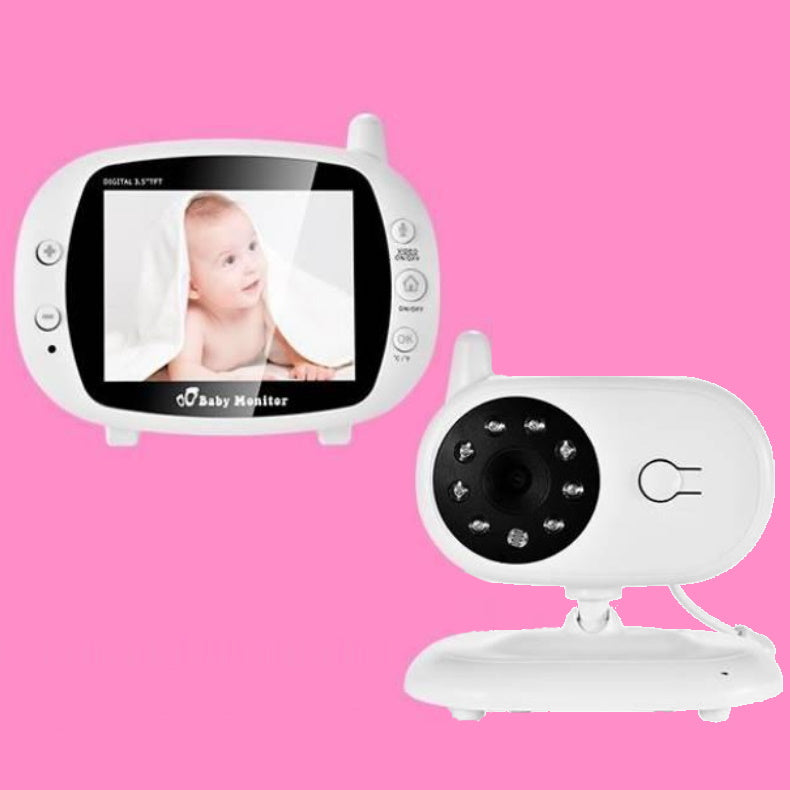 3.5 inch Video Wireless Baby Monitor Set With Temperature Alarm - ChildAngle