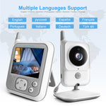 Load image into Gallery viewer, Video Baby Monitors 3.2 Inch LCD Wireless Square Two Way Audio Night Baby Camera