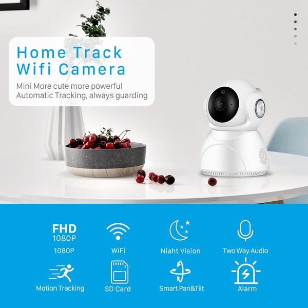 3MP 1080P Baby Monitor Wifi Wireless Auto Tracking IR Night Vision Camera