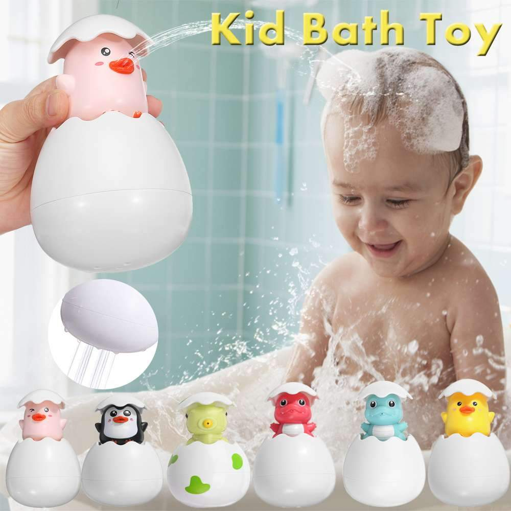 Baby Bath Toys Animal Spraying Bath Toys Hatching Egg Duck Penguin Dinosaur - ChildAngle