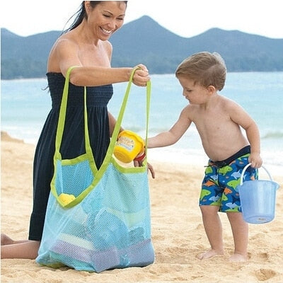 Portable Mesh Beach Toy Bag Children Toy Storage Totes