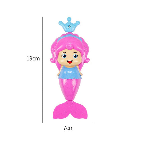 Mermaid Baby Bath Toys Kids Clockwork Swim Wind Up