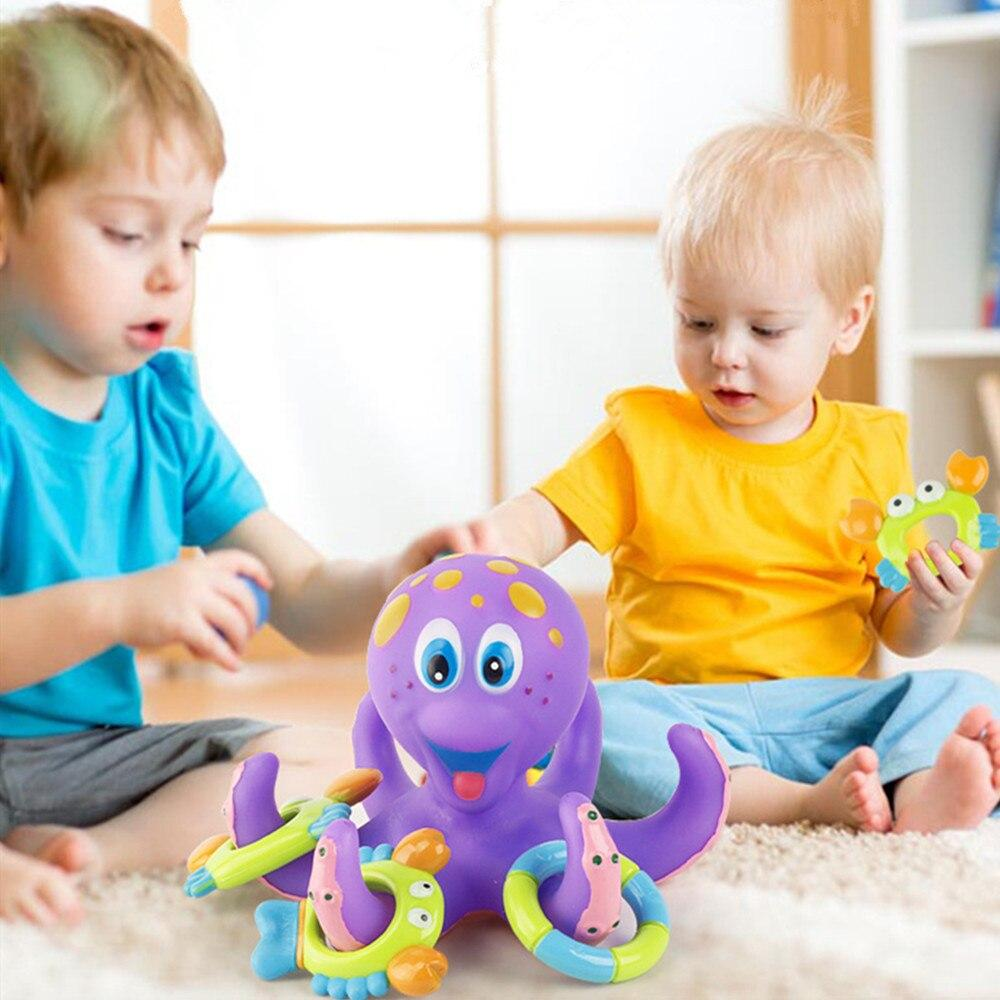 6 in 1 Baby Octopus Rubber Bath Toys