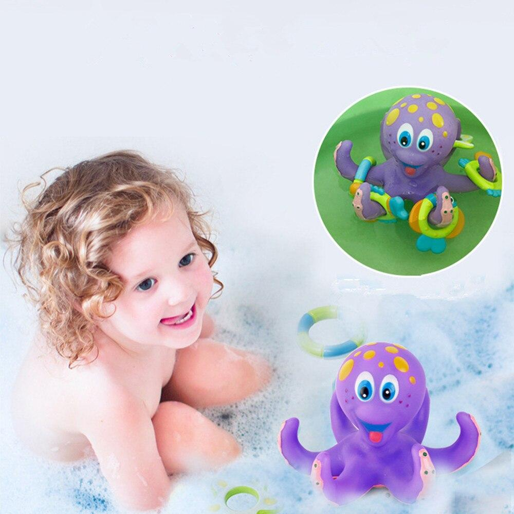 Baby Octopus Bath Toy Rubber Squeeze Toys